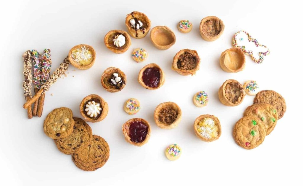 home - array of baked goods - contact page