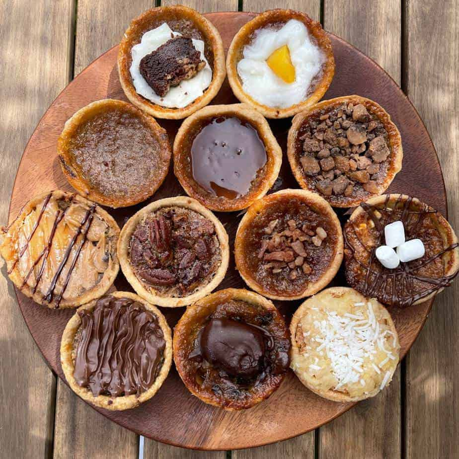 12 assorted butter tarts on home page