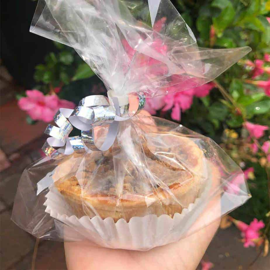 individually packaged butter tart