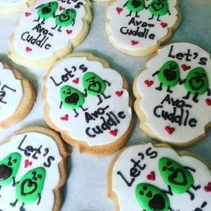 sayings cookie - avocado