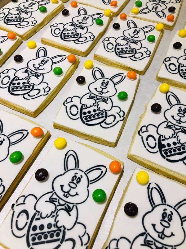 """7"""" Bunny PYO, with skittles and a handy paintbrush"""